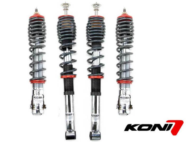 Kit suspension regulable roscada KONI Seat Altea Año 04-12 Bajada delantera 40-70 Trasera 30-60 36258-1